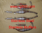 LOMAS SUZUKI RG500  Stainless Steel Exhaust with Stainless Steel Mufflers